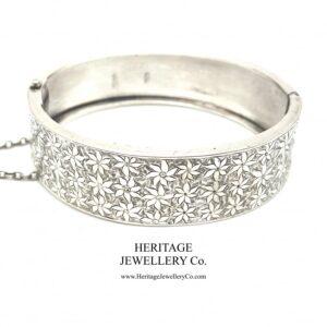 Antique Victorian Silver Bangle Bracelet (c. 1883) Bangle Antique Jewellery