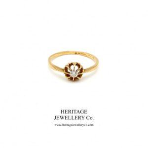 Art Deco Diamond Solitaire Ring Diamond Antique Jewellery