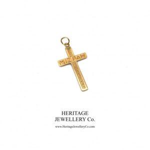 Antique Mizpah Cross Antique Antique Jewellery