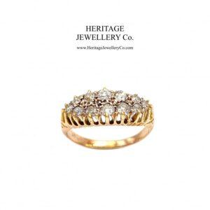 Antique Gold Two-Row Diamond Ring Antique Antique Jewellery