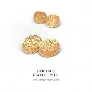 Victorian Gold Cufflinks with Antique Box Antique Antique Jewellery