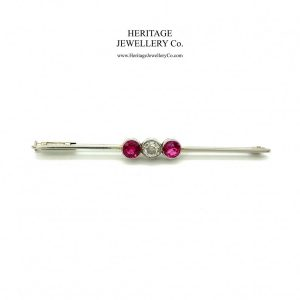 Antique Gold, Diamond and Ruby Brooch Antique Antique Jewellery