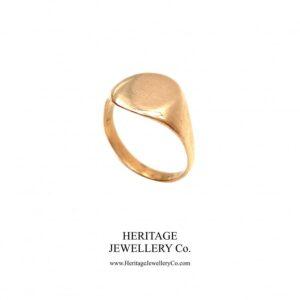 Antique Rose Gold Signet Ring (c. 1900) Antique Jewellery