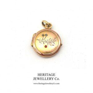 Antique Victorian Garnet, Pearl and Rose Gold Locket locket Antique Jewellery