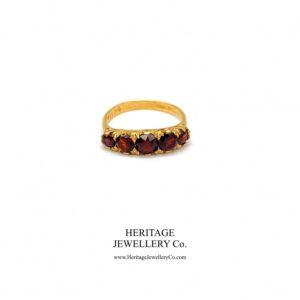 Antique Half Hoop Garnet Ring Antique Antique Jewellery