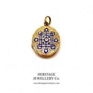Antique Gold and Enamel Locket locket Antique Jewellery