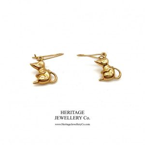 Vintage Gold Mouse Earrings earrings Antique Jewellery