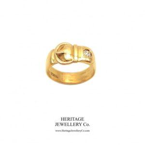 Antique Diamond & Gold Buckle Ring Antique Antique Jewellery