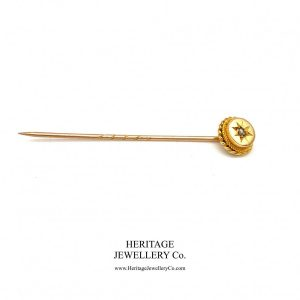 Antique Diamond & Gold Pin Antique Antique Jewellery