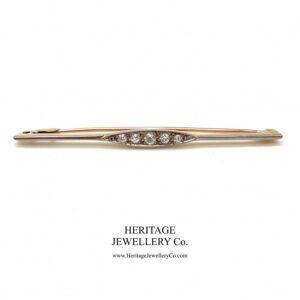 Antique 5-Stone Diamond Bar Brooch Antique Antique Jewellery