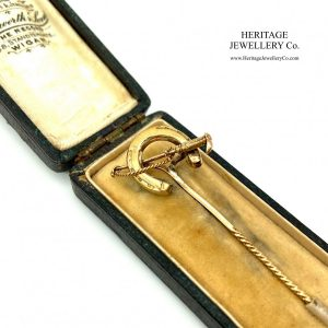 Antique Horseshoe & Crop Pin Edwardian Antique Jewellery