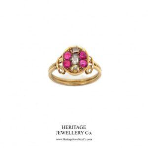 Georgian Ruby & Diamond Ring (c. 1714-1830) Antique Antique Jewellery