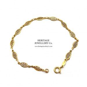 Vintage Fancy Link Gold Bracelet bracelet Antique Jewellery