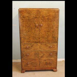 Antique Burr Walnut Chest of Drawers Tallboy