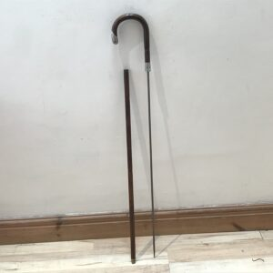 Gentleman's walking stick sword stick with silver mounts Miscellaneous