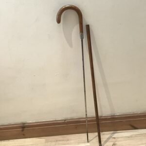 Gentleman's walking stick sword stick with silver mount Miscellaneous