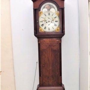 Grandfather clock 8 day moon roller George 111 Antique Clocks
