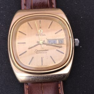 Omega man's automatic wristwatch Antique Watches