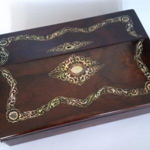 William IV rosewood writing slope Antique Boxes