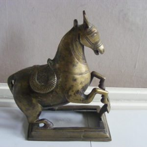 Mughal Cast Brass Rearing Horse