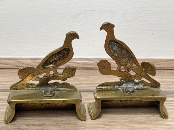Pair Victorian Style Fine Small Pheasant Bird Bookends bookends Antique Metals 3