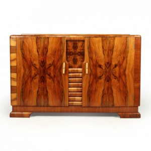 Art Deco Walnut Sideboard c1930 antique sideboard Antique Furniture 2