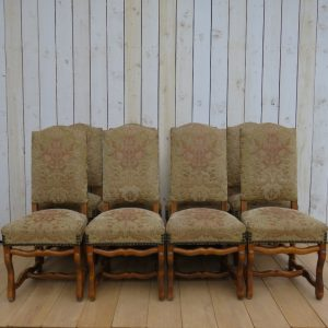 Set Of Eight French Dining Chairs chairs Antique Chairs