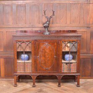 Edwardian Mahogany Bookcase/ Display Cabinet SAI2333 Antique Bookcases