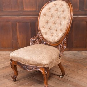 Victorian Walnut Nursing Chair SAI2326 Antique Chairs