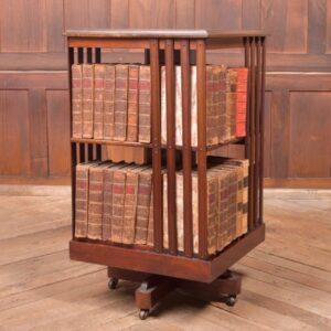 Edwardian Mahogany Inlaid Revolving Bookcase SAI2336 Antique Bookcases