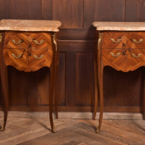 Pair Of Marble Top Bedside Cabinets SAI2351 Antique Cabinets
