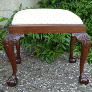 Large victorian mahogany stool circa 1890 Antique Stools