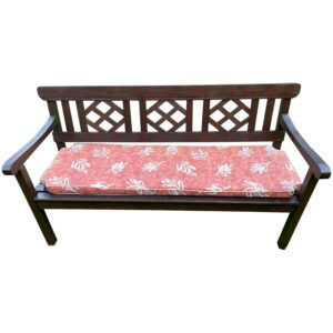 Large 3 Seater Vintage 20th Century Colonial Style Teak Wood Garden Bench Colonial style Vintage