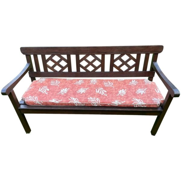 Large 3 Seater Vintage 20th Century Colonial Style Teak Wood Garden Bench Colonial style Vintage 2