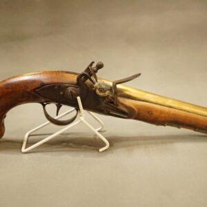 A Brass Barrelled Flintlock Pistol Antique Guns