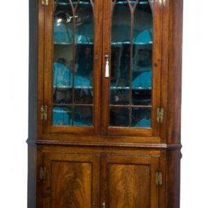 A George III full standing corner cupboard Antique Cupboards