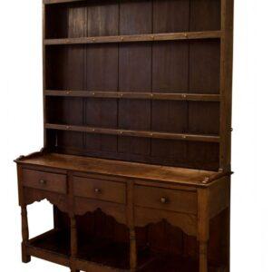 A George III oak pot board dresser Antique Dressers