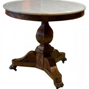 A good Charles X Gueridon with white marble top Antique Tables