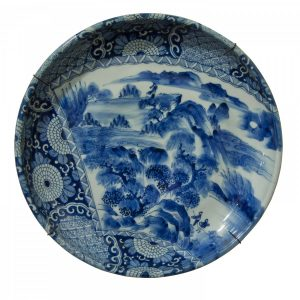 A Japanese Arita Bowl/Charger with rim Miscellaneous