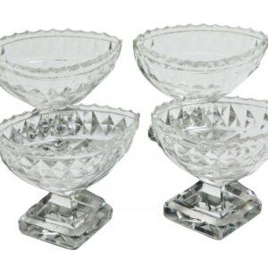 A Set of Pretty Cut Glass Salts Antique Glassware