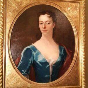 17thc Portrait Lady Circle Of Godfrey Kneller English School Oil Painting Antique Antique Art