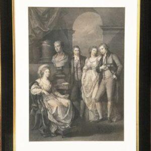 18thc Fine Portrait Engraving Of Princess Bariatinski Family C1793 After Artist Angelica Kauffman Antique Art Antique Art