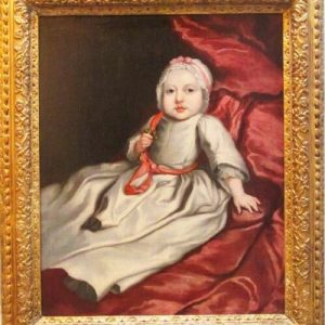 17thc Baby Portrait Studio Of Mary Beale (1633-1699) English School Oil Portrait Paintings Antique Art Antique Art