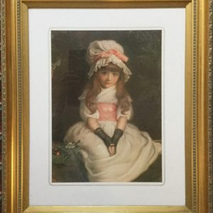 Pears Print Of Young Girl After Original Painting Antique Art Antique Art