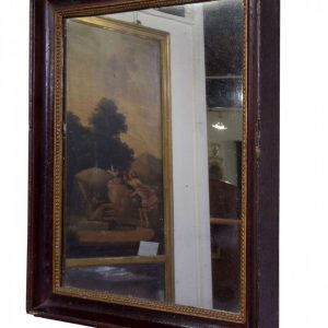 Early mid 19thC French rectangular mirror Antique Mirrors