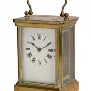 Enamel Dial French 8 Day Carriage Clock Antique Clocks