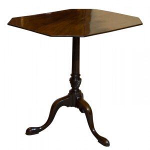 George III Mahogany tripod Tilt Top Tea Table Antique Tables