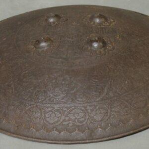Late 18th Century Indo-Persian Dahl Shield Antique Guns, Swords & Knives