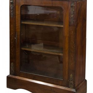 Mid Victorian walnut and marquetry inlaid side cabinet Antique Cabinets