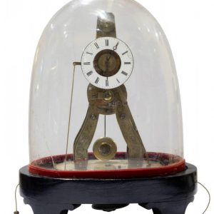 Minature Fusee Skeleton Alarm Clock Antique Clocks